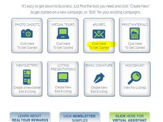 How to create an eflyer with an existing listing