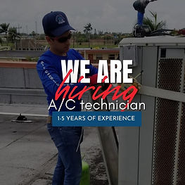 We are hiring AC techncian