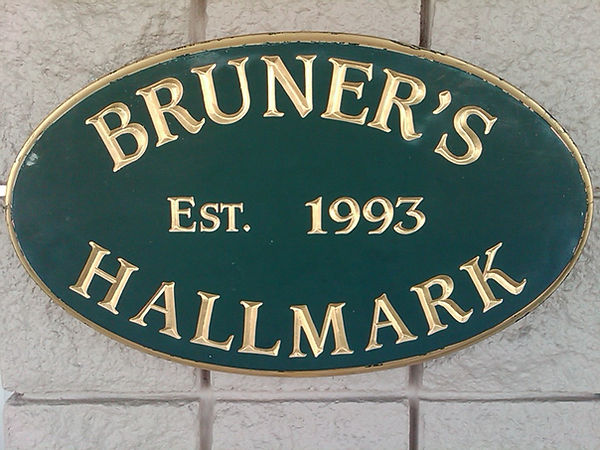 Bruner's Hallmark flagship sign