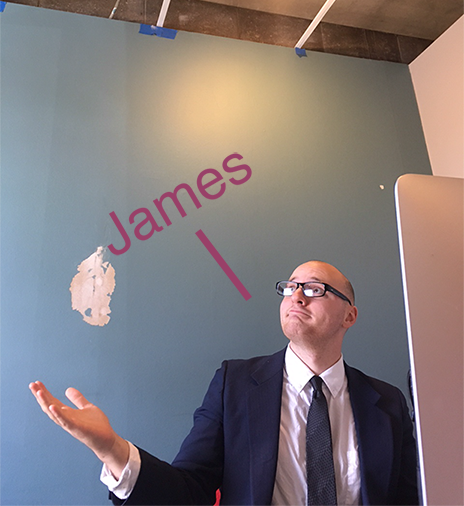 Sales Manager, James with no Ceiling