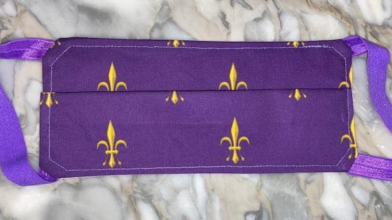 Purple & Gold Fleur de Lis