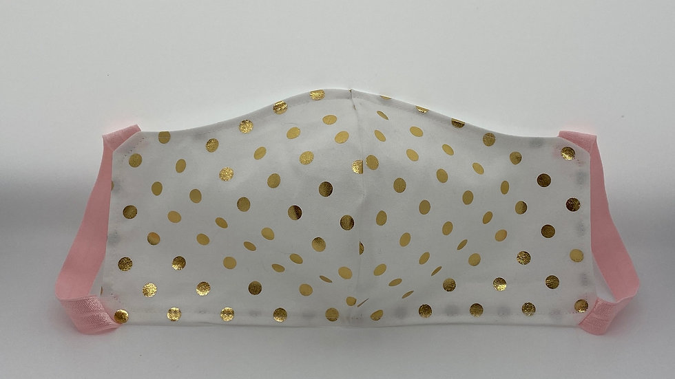 New!  Gold Polka Dots Style #2
