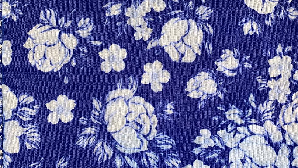 Deep Blue Floral