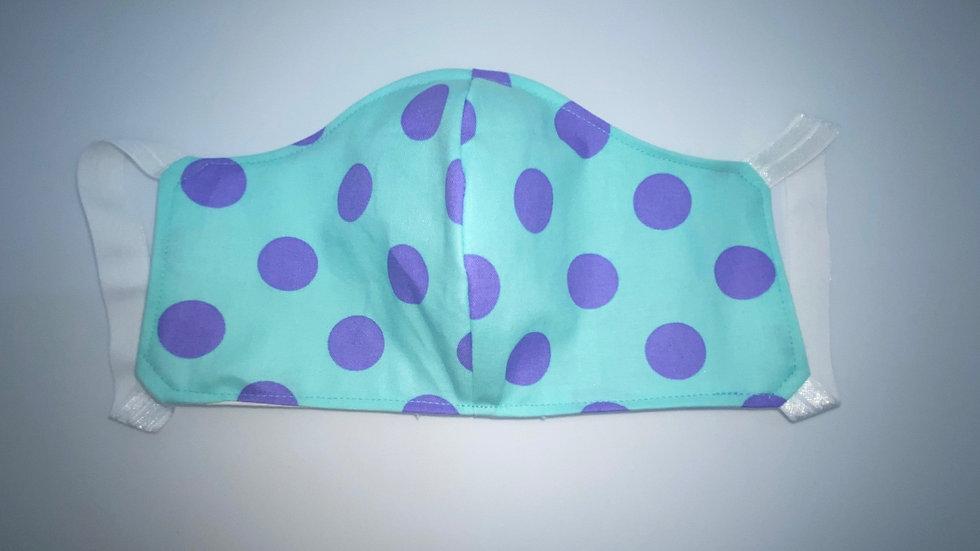 New! Aqua & Purple Polka Dot Style #2