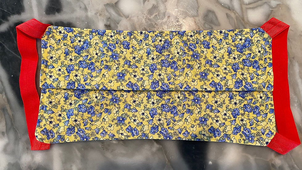 Tiny Blue/Yellow Floral
