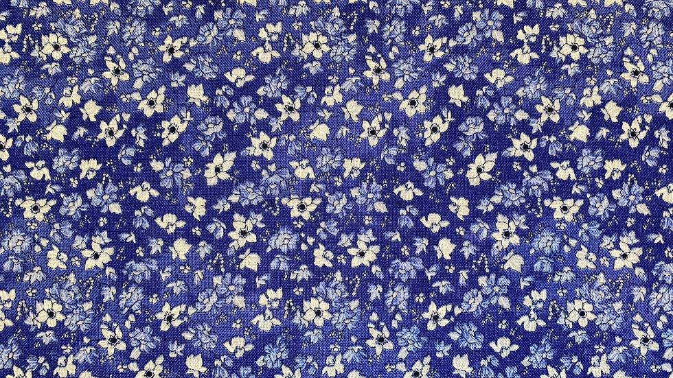 Tiny Deep Blue Floral