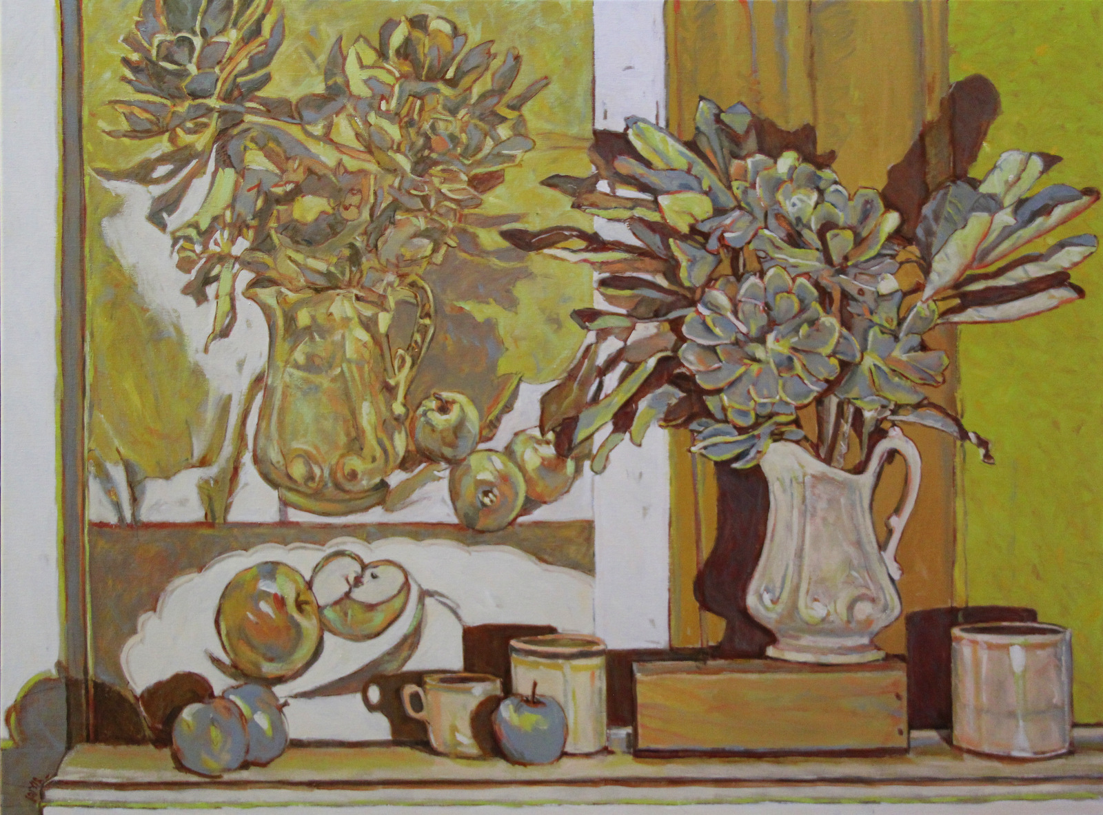 Yellow Still Life with Painting