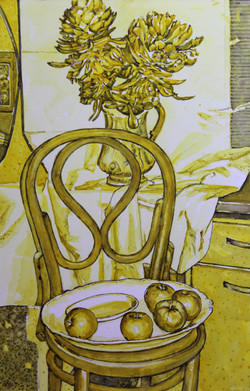 The Chair Still Life in Yellow