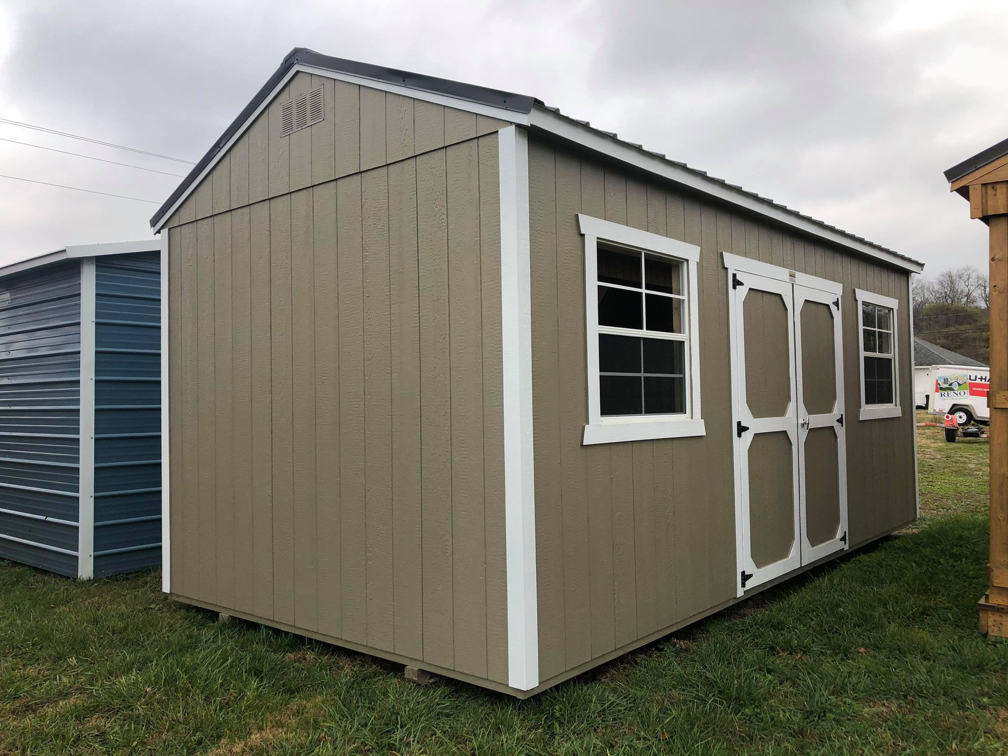 #1 10x20 Side Utility Shed