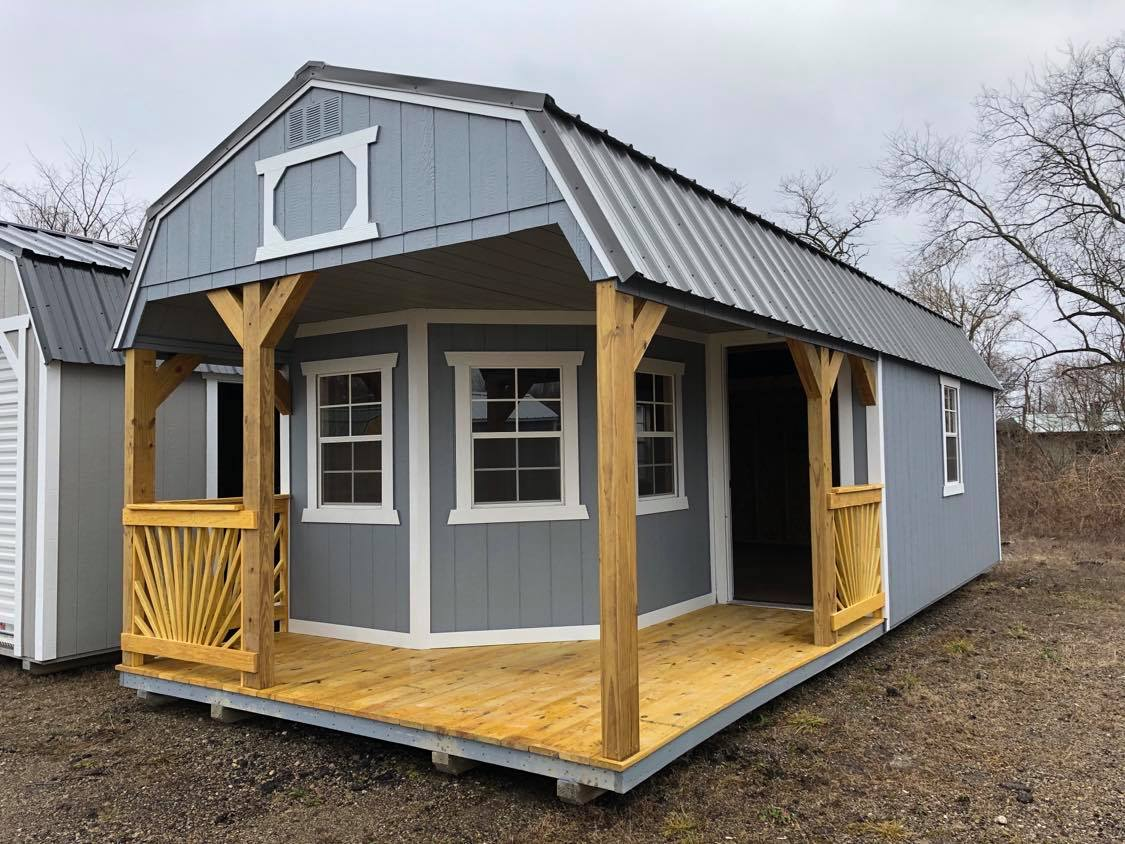 #16 12x28 Deluxe Lofted Playhouse