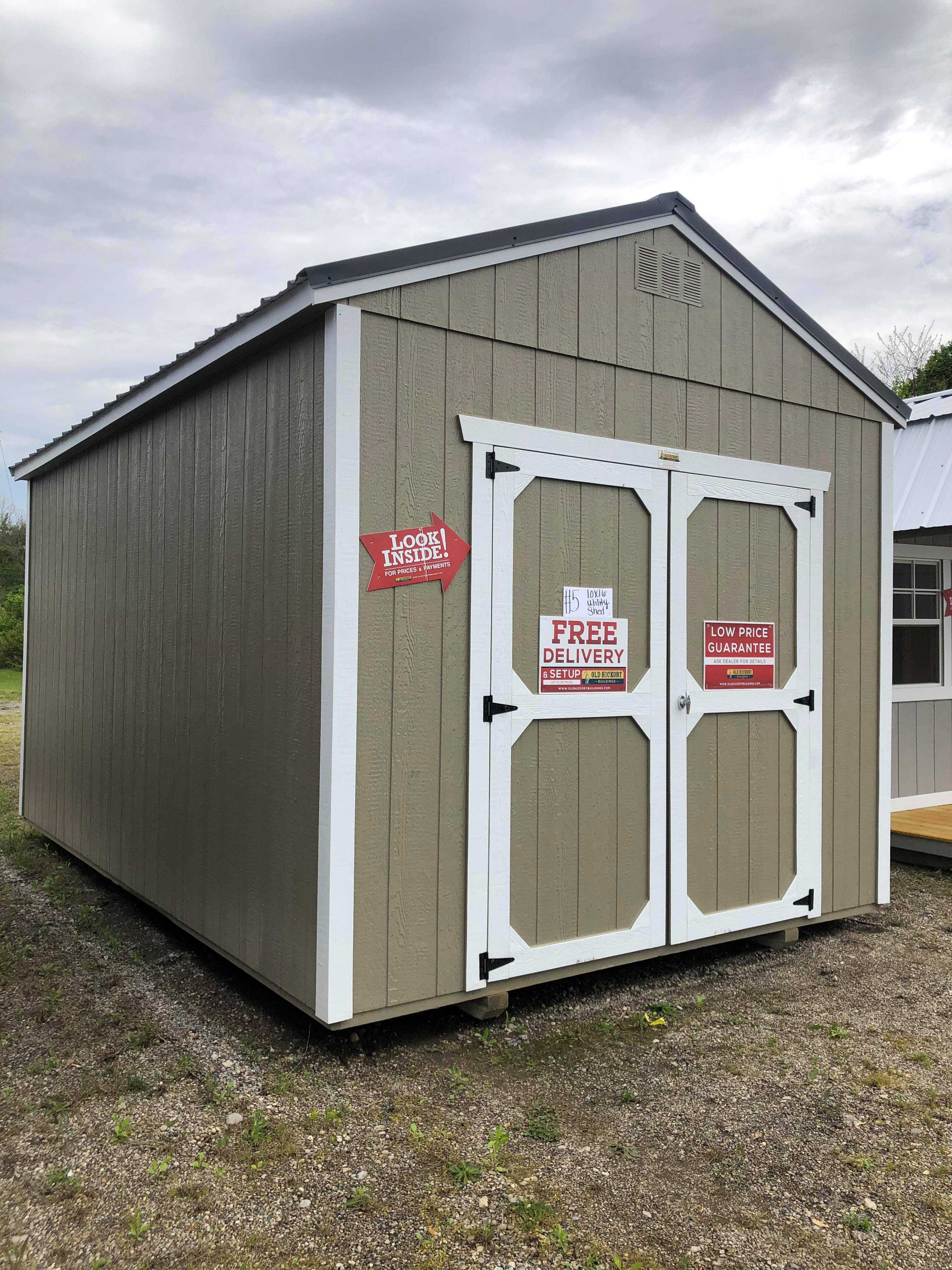 #5 10x16 Utility Shed