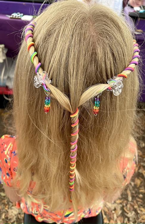 Rainbow Hair Wrap