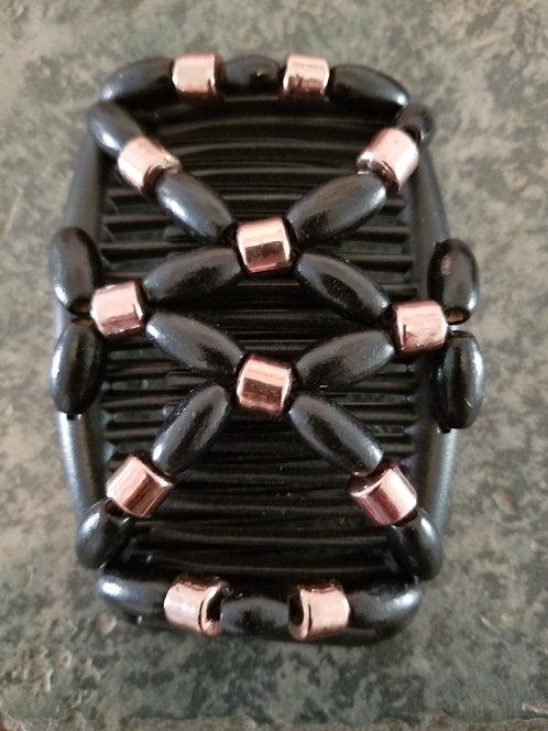 Regular Black Hair comb Bronze Beads