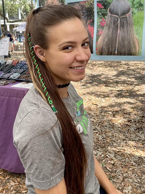 Tropical Green Hair Wrap