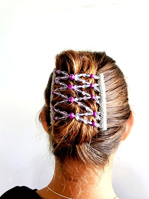 Royal Purple Stainless Steel Hair Comb