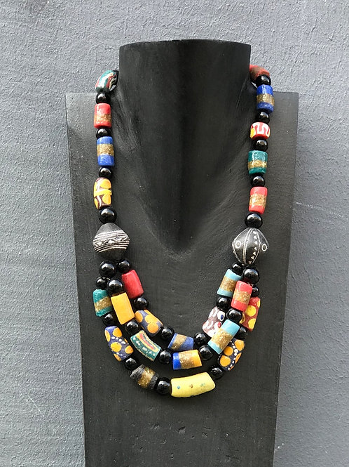 Necklace, Assembled glass beads