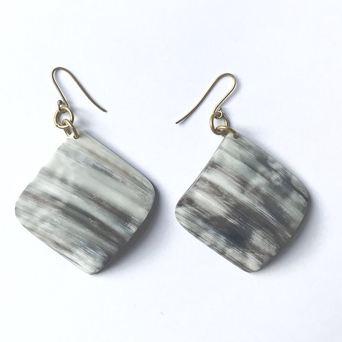 Earrings - Horn & Brass