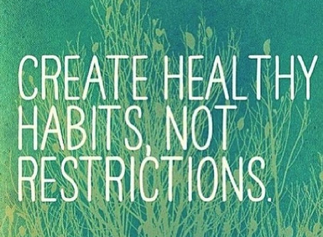 Create Healthy Habits, Not Resolutions