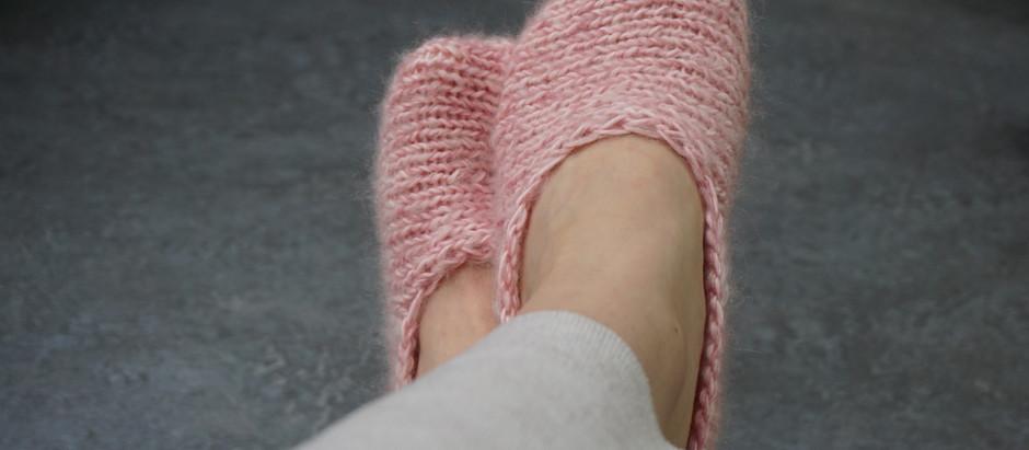 Návod na pletené papučky