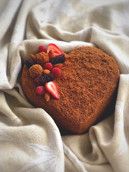 Honey Cake - Heart shaped cake