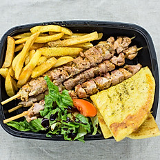 Three (3) chicken Souvlaki skewers [grill mama'a box]