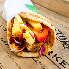 CHICKEN SOUVLAKI HANDMADE FLATBREAD WRAP