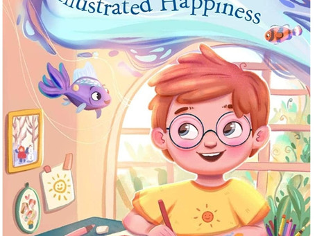 The Boy Who Illustrated Happiness by Victor Dias de Oliveira Santos, Eszter Miklós