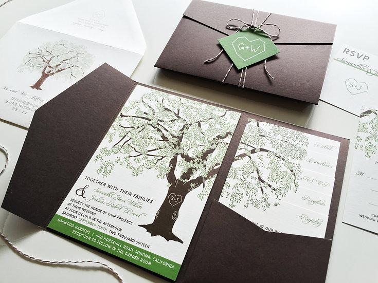 Grandfather Oak Tree Invitation
