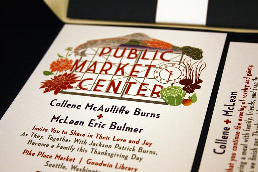 Seattle Pocketfold Wedding Invitation