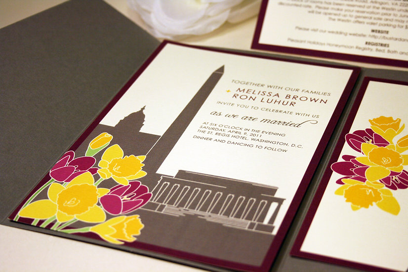 Washington DC Tulips & Daffodils Invitations