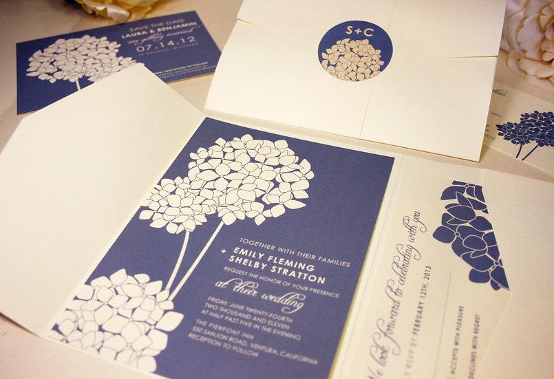 Hydrangea Blooms  Invitation