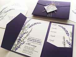 Lavender Invitation New Small Right Side