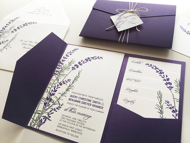 Lavender and Rosemary Invitation