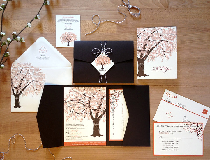 Fall Grandfather Oak Tree Invitation
