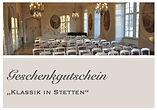 Gutschein Klassik in Stetten Druckvorlag
