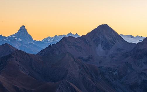 Mattenhorn (4478m) - Punta del Trajo (3123m)