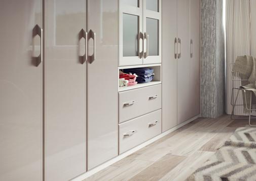 2.1 Turin - High Gloss Stone Grey & High