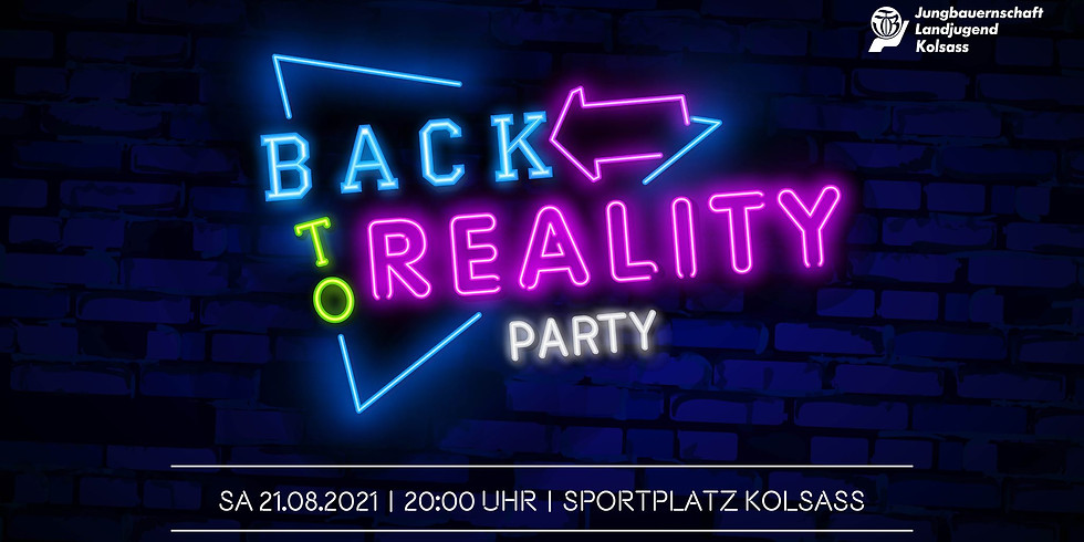 BACK to Reality PARTY