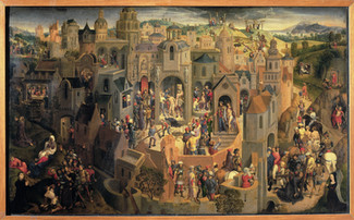 Hans Memling - Die Passion Christi Öl auf Holz, 1470, 56,7 x 92,2 cm, Sabauda Gallery, Turin