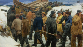 Michael Ancher - The lifeboat in the dunes