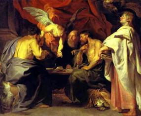 Peter Paul Rubens – Die 4 Evangelisten  Öl auf Leinwand, 1614, 224 x 270 cm, Bildergalerie von Sanssouci