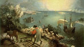 Pieter Bruegel the Elder (successor?) - Landscape with the fall of Icarus