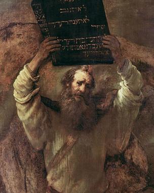 Rembrandt - Moses zerschmettert die Gese