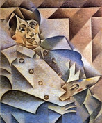 Juan Gris - Portrait Pablo Picasso Öl auf Leinwand, 1912, 93,3 x 74,7 cm, Art Institute of Chicago