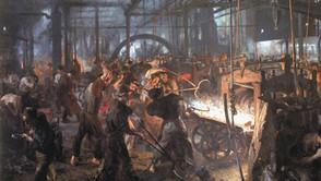 Adolph von Menzel - The Iron Rolling Mill