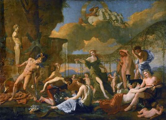 Nicolas Poussin - Das Reich der Flora  Öl auf Leinwand, 1631, 131 x 181 cm, Gemäldegalerie Alte Meister in Dresden
