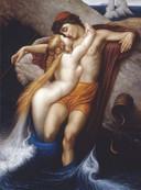 Frederic Leighton – Fischer und Sirene Öl auf Leinwand, 1856 – 1858, 66 x 49 cm, City Museum and Art Gallery, Bristol