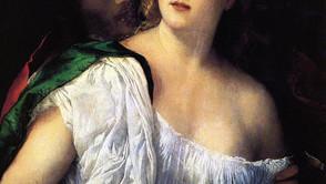 Titian - Lucretia and her husband Lucius Tarquinius Collatinus