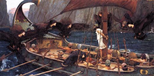 John William Waterhouse – Odysseus und Sirenen Öl auf Leinwand, 1891, 100 x 201,7 cm, National Gallery of Victoria, Melbourne