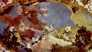 Giovanni Battista Tiepolo - Apollo leads Beatrix of Burgundy as a bride to Emperor Barbarossa